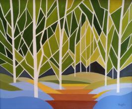 Birches 16x20 $500